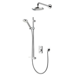 Aqualisa Quartz Divert Thermostatic Digital Mixer Shower High Pressure (Concealed with Fixed Rear Fed Head) QZD.A1.BV.DVFW.14