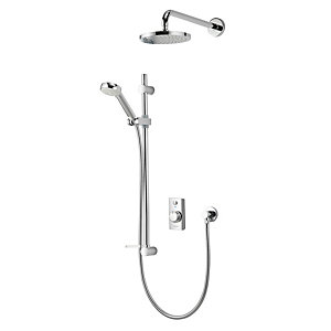 Aqualisa Visage Divert Thermostatic Digital Mixer Shower Pumped Gravity Fed (Concealed with Fixed Rear Fed Head)VSD.A2.BV.DVFW.14