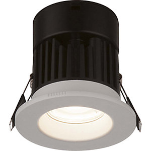 Globo 12363 Brushed White Recessed Cool White Dimmable Downlight