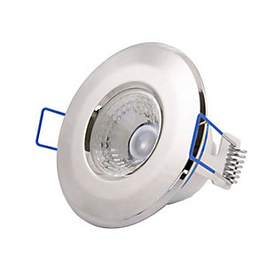 Scolmore LED5400CH5CD Inceptor NANO5 4.8W LED Fixed Dimmable Downlight - Cool White - Chrome