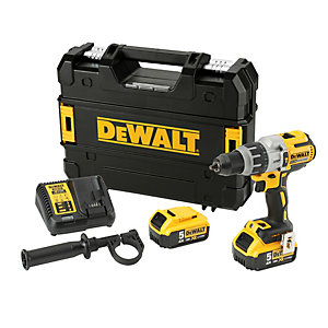 DeWalt 18V XR Brushless 3 Speed Hammer Drill Driver - 2 x 5.0AH