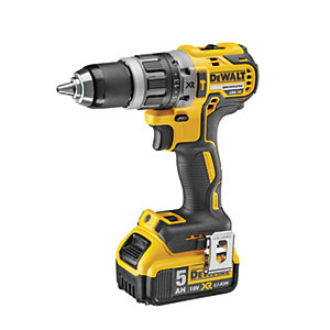 DeWalt 18V XR Compact Brushless Combi Drill 1 x 5.0AH Li-ion Battery
