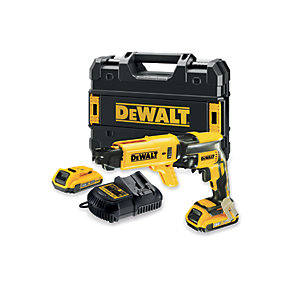 DeWalt 18V Xr Li-ion Brushless Collated Drywall Screwdriver 2 x 2.0AH, Charger and Kit Box