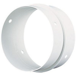 Manrose PVC White Round Pipe Connector 100mm