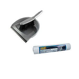 4TRADE Carpet Protector, All-Purpose Dustpan, and Brush Cleaning Set 578805