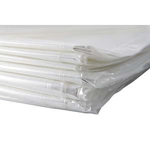 4TRADE Polythene Dustsheet 3.6 x 3.6m 80gSM Pack 10