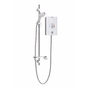 Bristan Joy Care Thermostatic Electric Shower (1 Metre Rail) 8.5kW White JOYTHCK85 W
