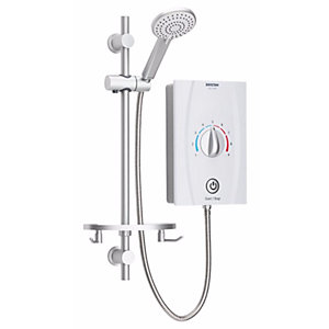 Bristan Joy Care Thermostatic Electric Shower (650mm Rail) 9.5kW White JOYTHC95 W