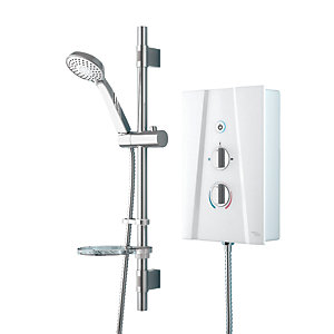 iflo Thirle Thermostatic Electric Shower 8.5kW White