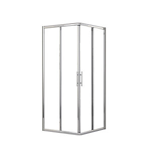 Novellini Lunesa87L-1K Shower Side Panel Lunes A 87-90cm Clear Glass Chrome