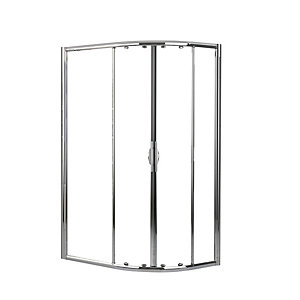 Novellini Lunesr80120L-1K 80 Shower Side Panel For Lunes R 80x120cm Clear Glass Chrome
