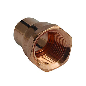 PlumbRight Straight Adaptor Female 15mmx1/2inch Endfeed