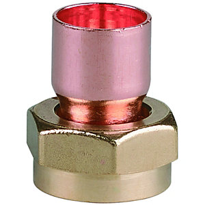 PlumbRight Straight Tap Connector End Feed 15mmx1/2inch