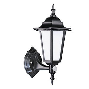 Robus Dingle 7W IP44 LED Coach Lantern with PIR - 4000K - Black