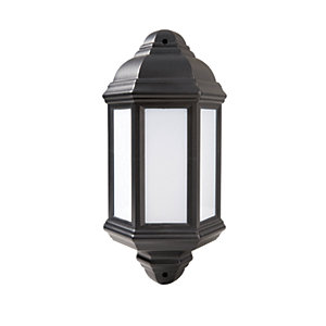 Robus Kerry 7W IP44 LED Half Lantern - 4000K - Black