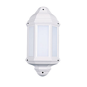 Robus Kerry 7W IP44 LED Half Lantern - 4000K - White