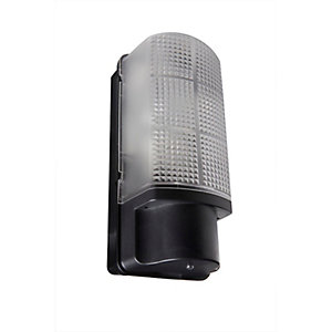 Robus Whitestar IP44 60W Bulkhead with Photocell - Black