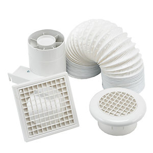 Manrose Standard Shower Fan Blister Packed 100mm/4 Sf100Sb