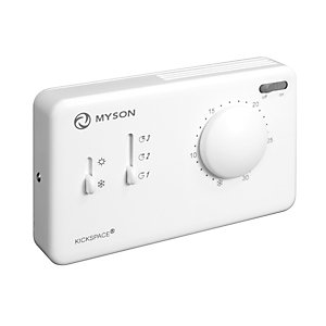 Myson RCONTSTAT Kickspace Remote Wall Thermostat White