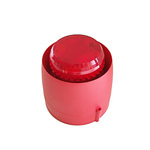 C-tec BF433C/CR/5 24V Red Vtb Wall Sounder Beacon - Deep Base