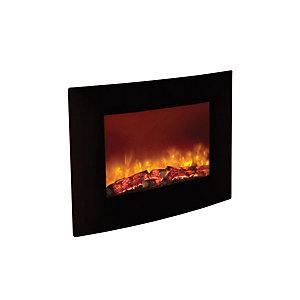Be Modern Quattro Wall Mounted Electric Fire - Black