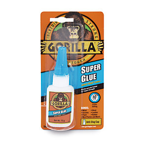 Gorilla Super Glue Bonding Adhesive 15g Clear