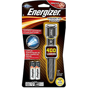 Energizer S12117 2 x AA Vision Hd Performance Metal LED Flashlight with Digital Focus