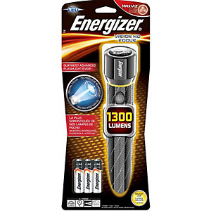 Energizer S12118 6 x AA Vision Hd Performance Metal LED Flashlight with Digital Focus