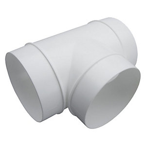 Manrose 44920 100mm Round T Piece to Connect Round Ducting