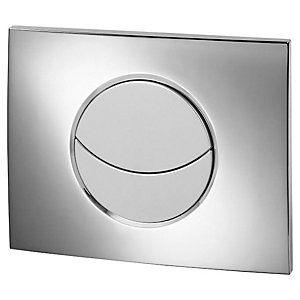 Wirquin 50718122 Pro Moon Chrome Dual Flush Cistern Push Plate