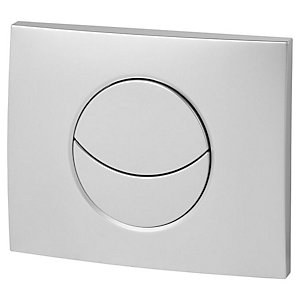 Wirquin 50718580 Pro Moon Matt Chrome Dual Flush Cistern Push Plate