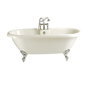 Heritage Oban Double Ended Roll Top Bath With Feet 1760 x 790mm BOBW01