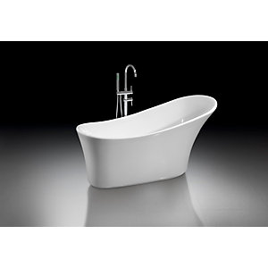 iflo Alsina Freestanding Slipper Bath 1590 x 690mm in White
