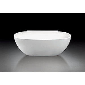 iflo Tahoe Freestanding Bath with Shelf in White 1718