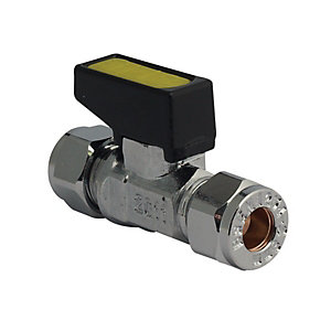 Gcm10 Mini Gas Ball Valve Chrome 10mm