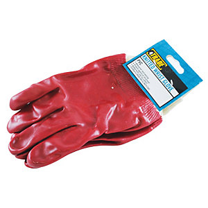 4TRADE Gloves PVC Knitted Wrist Pair