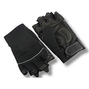 4TRADE Velcro Cuff Fingerless Gloves