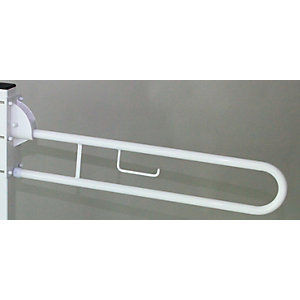 Barwood B301PCW 760mm Hinged Support Rail White 32mm Diameter