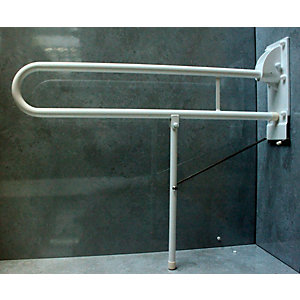 Barwood B303PCW 765mm Hinged Support Rail & Leg Rail White 28mm Diameter