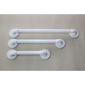 Barwood Bpg8274Cw 300mm Long Grab Rail White Plastic