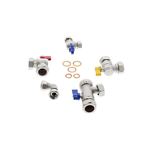 Heatline Capriz Compact Sarg Solar VIZOD002160280 Set of 5 Isolation Valves
