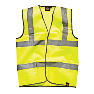 4TRADE Waistcoat High Visibility EN471 CL2B Size Extra Large