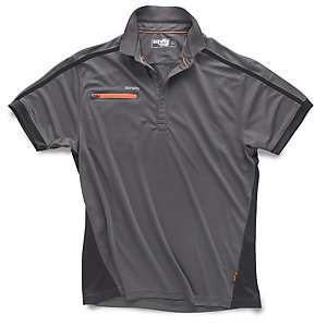 Scruffs Pro Active Zip Polo Graphite Extra Large