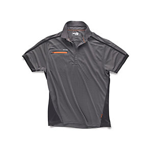 Scruffs Pro Active Zip Polo in Graphite - Medium