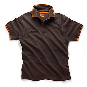 Scruffs Worker Polo 2015 in Graphite - Large