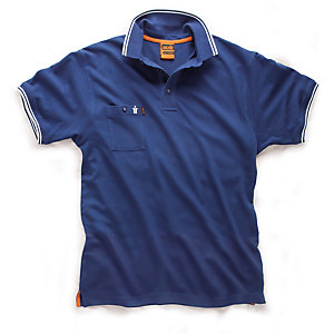 Scruffs Worker Polo Blue Small