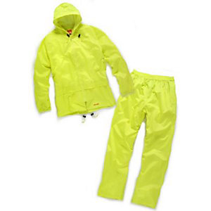 Scruffs Worker Waterproof Rain Suit Yellow Large