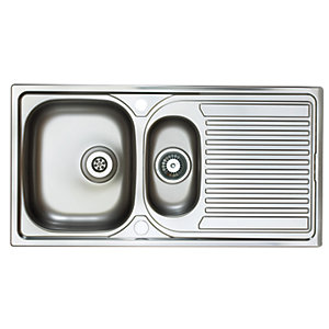 Astracast Aegean 1.5 Bowl Inset Kitchen Sink (Right Hand) EI0950HX