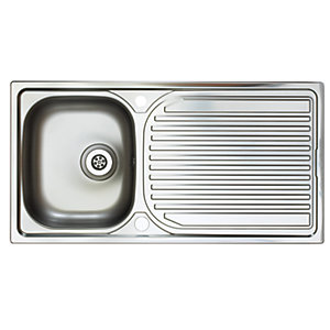 Astracast Aegean 1 Bowl Inset Kitchen Sink (Right Hand) EI0950SX
