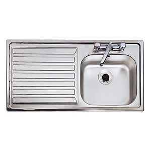 Astracast Eclipse 1 Bowl Inset Kitchen Sink (Left Hand) EI0951SL